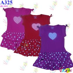 Ảnh số 85: Váy tầng chân bi in tim zara size 2-8 R/7 - Giá: 1.100