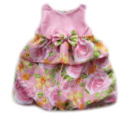 Ảnh số 23: Đầm Phi bí bông hồng Gala, size 2>8 tuổi - Giá: 1.000