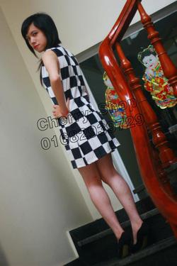 Ảnh số 2: Váy suông họa tiết bàn cờ - Giá: 280.000