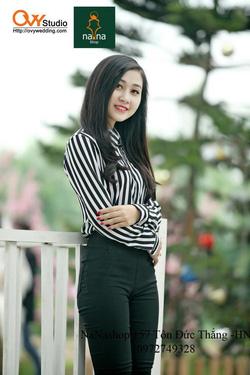 Ảnh số 22: Áo sọc đen trắng ( MS A1011): 200K Quần kaki ( MS V 1017): 240k - Giá: 200.000