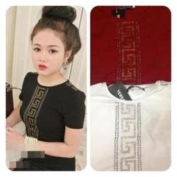 Ảnh số 24: Áo phông versace, chất cotton mịn đẹp, ôm dáng, có 3 màu : đỏ, đen, xanh than - Giá: 120.000