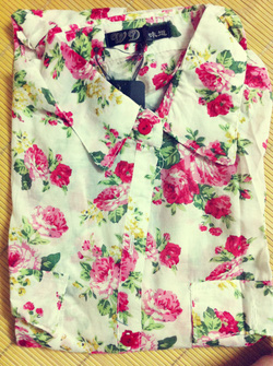 Ảnh số 33: Áo sơ mi hoa 2 túi, chất cotton mát mịn, khác với loại không có túi nhé - Giá: 170.000