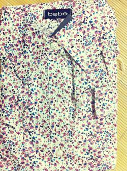 Ảnh số 37: Áo sơ mi hoa 2 túi, chất cotton mát mịn, khác với loại không có túi nhé - Giá: 170.000