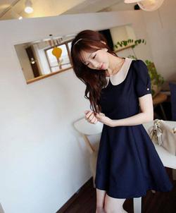 Ảnh số 21: Đầm Vintage cổ điển xanh navy - Giá: 160.000