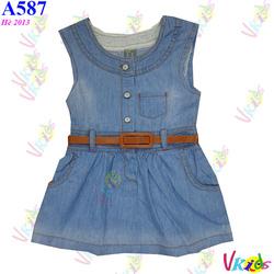 Ảnh số 14: 587- Váy jean túi ngực zara R/7 - Giá: 1.100