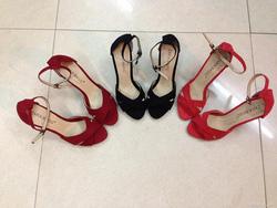 Ảnh số 33: Mã số D033: Sandal ZARA, chất liệu da lộn, gót cao 6cm chắc chắn, kiểu dáng thời trang. Đủ size từ 35-38- Giá 280k - Giá: 5.000