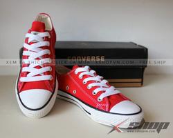 Ảnh số 6: Giày Clasic vải đỏ - Giá: 199.000