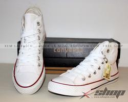 Ảnh số 68: Giày Converse classic cao cổ trắng - Giá: 220.000