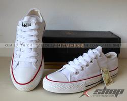 Ảnh số 2: Giày Classic vải trắng - Giá: 199.000