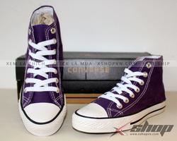 Ảnh số 87: Giày converse classic cao cổ Tím - Giá: 220.000
