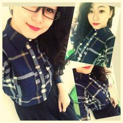Ảnh số 78: áo sơ mi caro xanh cực hot - 220k chất vải kaki đẹp y hình - Giá: 220.000