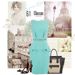 Ảnh số 19: váy peplum xanh pastel - Giá: 550.000