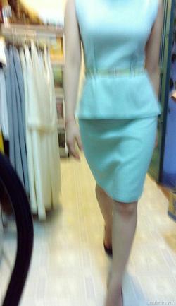 Ảnh số 21: Váy peplum xanh pastel - Giá: 550.000