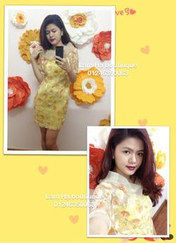 Ảnh số 20: Váy ren hoa hồng vàng cam - Giá: 111.111