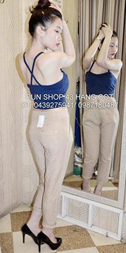 Ảnh số 42: áo crop dây chéo lưng pun - Giá: 110.000