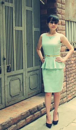 Ảnh số 23: Váy peplum xanh pastel  (không kèm thắt lưng) - Giá: 550.000