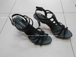 Ảnh số 4: M168: Sandal Vitco gót cao 7 cm, quai mảnh, phía trên tết xoắn đẹp, mềm, chắc chắn,size 35 -> 39 - Giá: 250.000