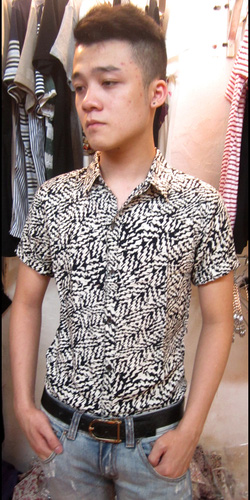 Ảnh số 93: áo sơ mi cộc tay - Giá: 150.000