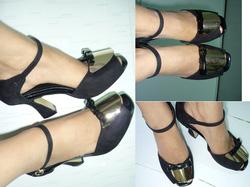 Ảnh số 90: Giày cao gót bảng kim loại nơ S093- 290k giảm giá còn 150k - Giá: 150.000