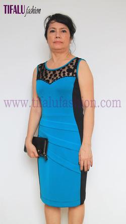 Ảnh số 18: Đầm thun xanh L31-26 - Giá: 590.000