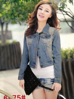 Ảnh số 55: Jacket jeans đinh vai - Giá: 210.000