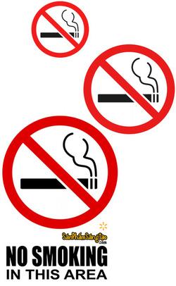 Ảnh số 12: Đề can cấm hút thuốc lá - NO SMOKING. - Giá: 5.000