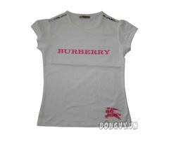 Ảnh số 20: Áo thun Burberry in nổi- trắng - Giá: 105.000