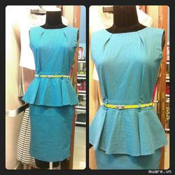 Ảnh số 42: Váy peplum (xanh pastel và xanh cổ vịt) - Giá: 550.000
