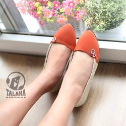 Ảnh số 12: Giày Búp bê 2 màu sành điệu B033 - Giá: 280.000