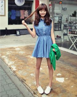 Ảnh số 17: Váy denim chấm bi - Giá: 240.000