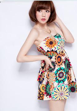 Ảnh số 91: Váy quây họa tiết. Có 2 màu - Giá: 200.000