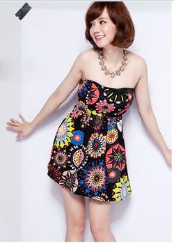 Ảnh số 92: Váy quây họa tiết. Có 2 màu - Giá: 200.000