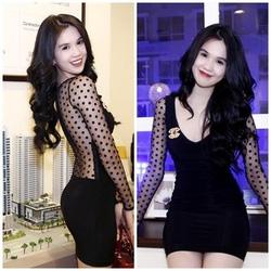 Ảnh số 14: váy fai lưới chấm Ngọc Trinh - Giá: 400.000