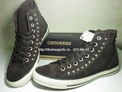Ảnh số 31: Converse Da Lộn Nâu đính kim loại - Giá: 750.000