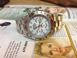 Ảnh số 33: ĐỒng hồ Rolex dây sắt trắng, đồng hồ 4 kim - Giá: 1.650.000