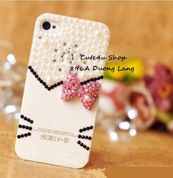 Ảnh số 64: Ốp Mặt Hello Kitty nơ đá Iphone4: 250k; Iphone 5: 270k - Giá: 250.000