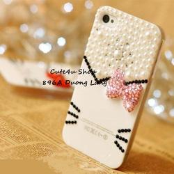 Ảnh số 66: Ốp Mặt Hello Kitty nơ đá Iphone4: 250k; Iphone 5: 270k - Giá: 250.000