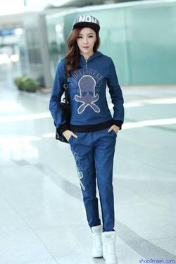 Ảnh số 86: Bộ đồ thu đông Hàn quốc 2015: BDD086 - Giá: 850.000