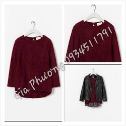 Ảnh số 3: Knit Zara mầu đỏ mận, chất dày dặn, - Giá: 750.000
