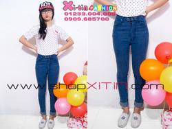Ảnh số 20: D1272.Jeans 3 nút lật lai xanh nhạt(S,M)-->285,000 VNĐ - Giá: 285.000