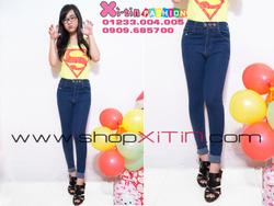 Ảnh số 21: D1273.Jeans 3 nút lật lai xanh đậm(S,M)-->285,000 VNĐ - Giá: 285.000