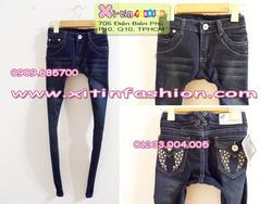 Ảnh số 26: D938.Jeans xanh túi nắp đính hạt(26,27,28)-->240,000 VNĐ - Giá: 240.000