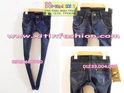 Ảnh số 27: D955.Jeans xanh lưng đen(27,28)-->260,000 VNĐ - Giá: 260.000