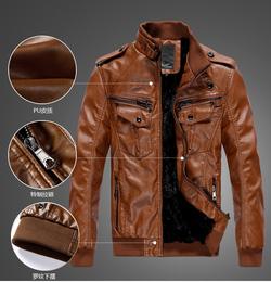 Ảnh số 18: áo khoác da (có màu nâu và đen) - Giá: 1.000.000