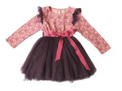Ảnh số 8: Váy ren hoa hồng dài tay- VA008 - Giá: 450.000