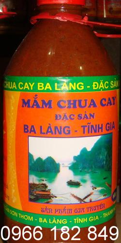 Ảnh số 35: Có rất nhiều vùng miền ở nước ta nổi tiếng với món mắm  chua cay, trong đó mắm của Ba Làng, Tĩnh Gia, Thanh Hóa là thơm ngon hơn cả, lọ 600g - Giá: 45.000