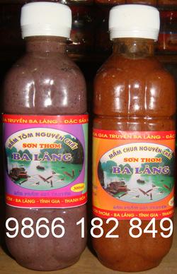 Ảnh số 36: Rất nhiều vùng miền ở nước ta nổi tiếng với Mắm tép chua & mắm tôm. Trong đó mắm của Ba làng, Tĩnh Gia, Thanh Hóa là thơm ngon hơn cả, lọ 300g - Giá: 25.000