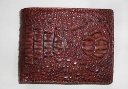 Ảnh số 92: Nguyên con nâu đỏ gập viền cá sấu - Giá: 900.000