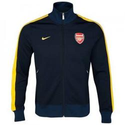 Ảnh số 2: Áo khoác nam thể thao Arsenal đen kẻ vàng - Giá: 195.000