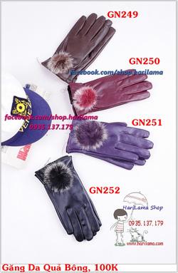 Ảnh số 23: Găng Tay Nữ, Găng Tay Len Nữ, Găng Tay Ống, Găng Tay Da, Da Lộn - Giá: 100.000